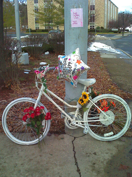 Diva's Ghost Bike, Decorated By Her Friends For Her Birthday, December 29