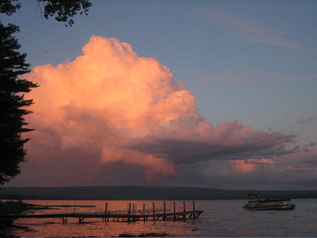 Clouds At Sunset Over Sacandaga