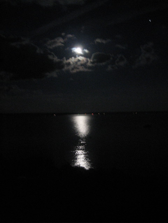 Full Moon Over Lake Sacandaga