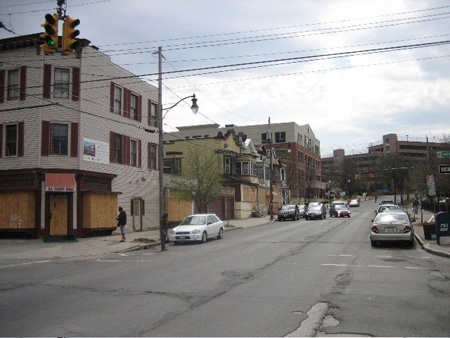 New Scotland Avenue Above The Intersection. Note The New Five Story Building And The Houses Slated For Demolition
