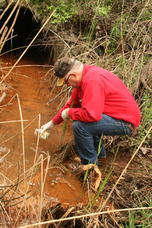 Tim Truscott Collects A Sample