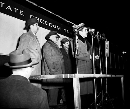 All In The Family: Gazette Owner John EN Hume Jr. Father Of John III, At The Mic 1949