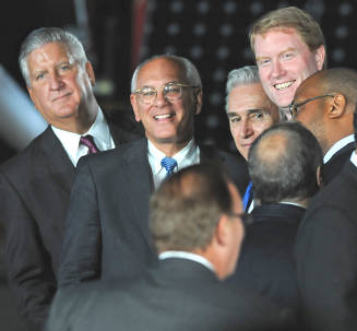 Again At Mr. Obama's Visit, Jennings Can't Quite Smile