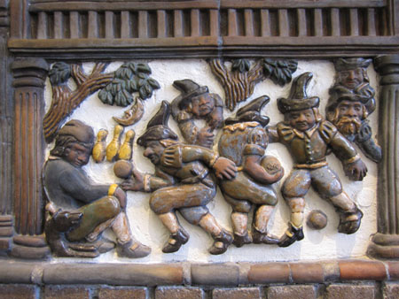 One Panel From The Fireplace, The Bowling Dutchmen From Rip Van Winkle