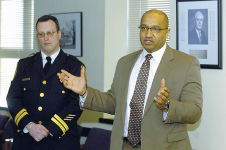 Chief Krokoff With Albany County DA David Soares Last March