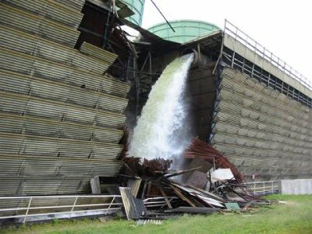 Vermont Yankee Cooling Tower Collapse, Aug. 2007