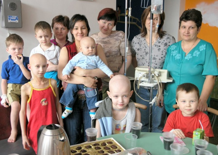 Chernobyl Children With Cancer (photo from the UK Chernobyl Children's Project)