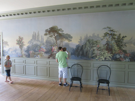 Schuyler Mansion, Wallpaper On The 2nd Floor
