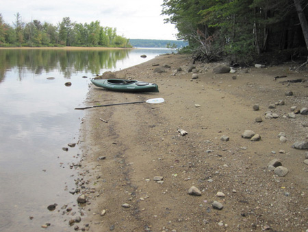 The Blogger's Kayak Parked In The Little Kenyon Islands, Great Lake Sacandaga