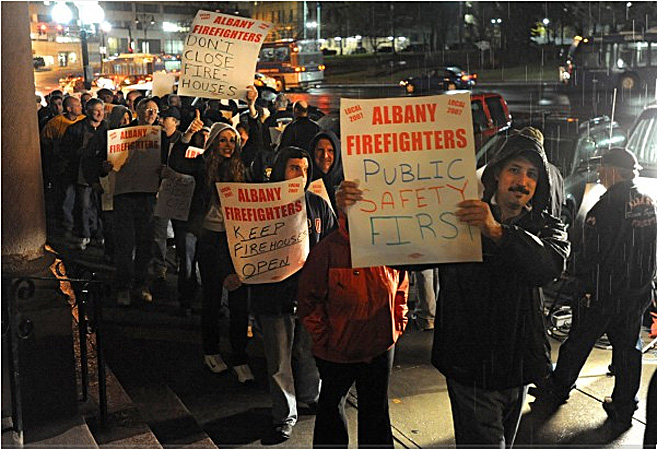Firefighters Who Reside In The Suburbs Demand More From The Albany Taxpayers, November 2011