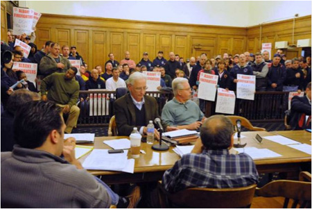Annual Event: Firefighters Invade A Common Council Finance Meeting Earlier This Month