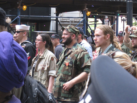 US Veterans Marching In Formation On Michigan Avenue In Chicago, May 20, 2012