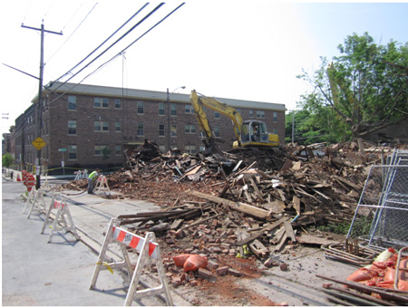 Destroyed Brick Buildings At Morton Avenue And Eagle Street