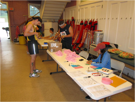 Race Registration In The Lifeguard's Sanctum