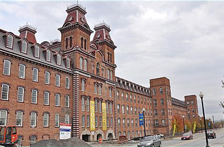 Harmony Mills In Cohoes, A Derelict Factory Building Converted To High End Apartments