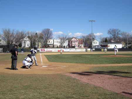 Start Of A Baseball Game St. Rose Vs. Pace At The Plumeri, Last Saturday In March