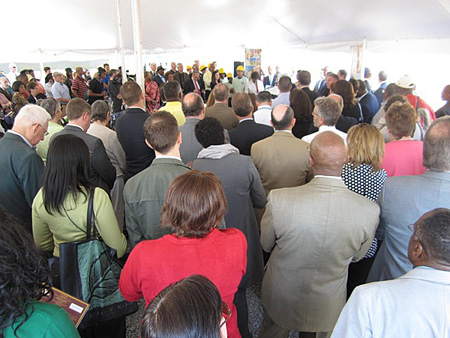 Crowd Attending The Groundbreaking