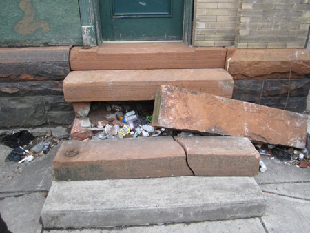 Sandstone Steps Deliberately Wrecked By A City Crew At Bathhouse #2