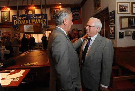 Jery Jennings And Gary Domalewicz At his Campaign kickoff, May 17