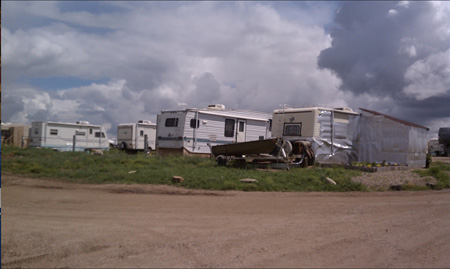 "A ""Man Camp"" Trailer Housing For Oil Workers, Williston North Dakota, Monthly Rent $4000"