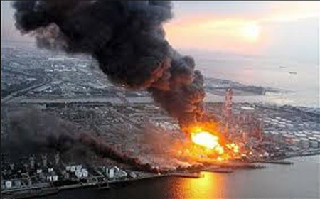 Fukushima Nuclear Power Plant Burning, March 2011: Still Emitting Radiation Today