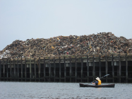 Scrap Metal Recycling, Across The River In Rensselaer