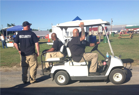 Bored Security Guards, Altamont Fairgrounds NRA Rally, August 24 2013