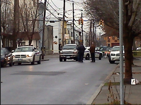 Albany NY Police Search Cars For Guns After A Fatal Shooting, Ontario Street, December 2012