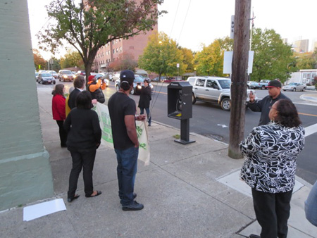 SNUG Anti-Gun Violence Rally, Morton Avenue And Elizabeth Street, In Response To A Nearby Non-Fatal Shooting, November 2013