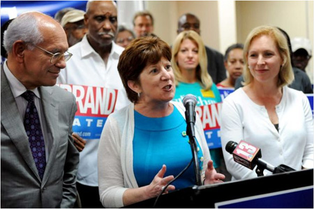 Kathy Sheehan, Flanked By Congressman Paul Tonko And Senator Kirsten Gillibrand, Slams Jerry Jennings' Final Proposed Budget For Albany, August 2013