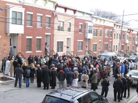 "Dedication For ""Morton's Walk"" On Alexander Street, December 2012"
