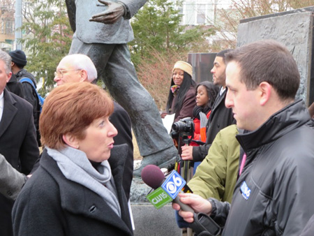 Mayor Sheehan Interviewed After The Ceremony