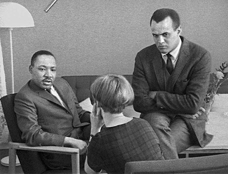 Martin Luther King And Harry Belafonte Interviewed In Sweden, 1967
