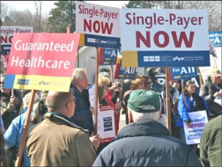 Rally For Single Payer Health, Albany NY Capital January 2013