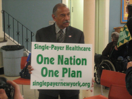 Michigan Congressman John Conyers At Westminster Presbyterian Church, Albany NY, March 2009