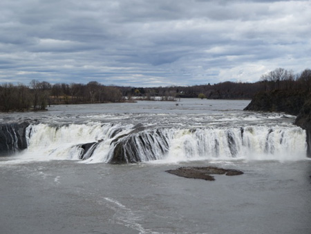 Cohoes Falls Seen From The City Of Cohoes, April 2014