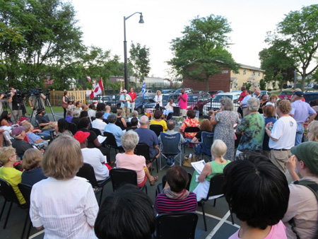 Lac Magantic Vigil At Ezra Prentice On South Pearl Street