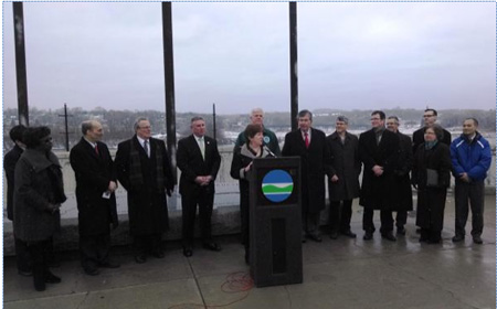 "Announcing The LTCP Last January At ""Jennings Landing,"" Which Was Flooded By The Beaverkill In August"
