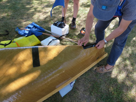 Sadly, Duct Tape Did Not Help The Injured Paper Boat