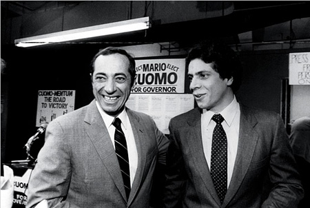 Former NY State Governor Mario Cuomo With Son Andrew, 1982