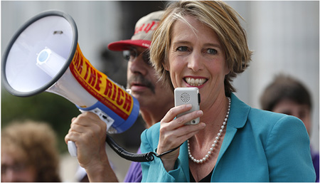 Zephyr Teachout Campaigning In NY City Early September, Assisted By Albany County Legislator Doug Bullock