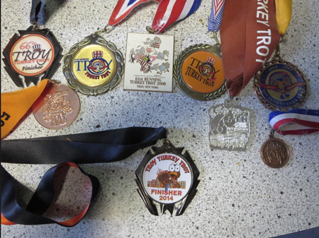 Some Of The Wife's Turkey Trot Medals