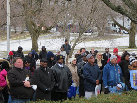 The People Assembled Before The Memorial, Listening To The Mayor