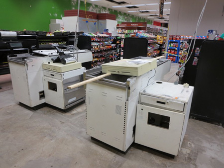 Dismantled Checkout Counters At The Madison Price Chopper