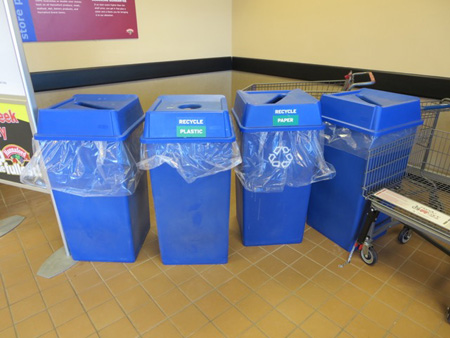 Wait, What? Unspecific Recycling Cans At The Albany Hannaford