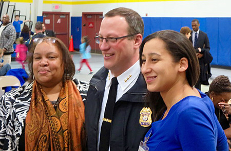 Chief Krokoff With First Ward Common Council Representative Vivian Kornegay And Danielle