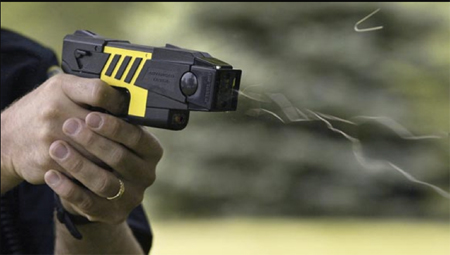 Taser Being Fired