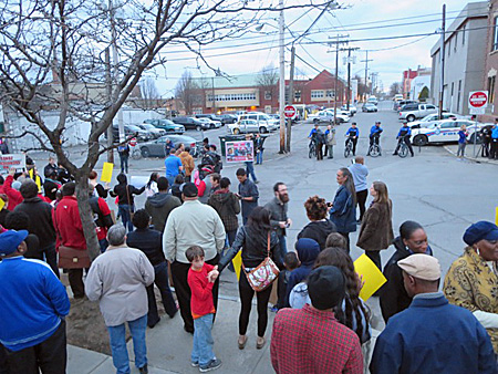 Protest At The Morton Avenue Police Station For Donald Ivy, April 3