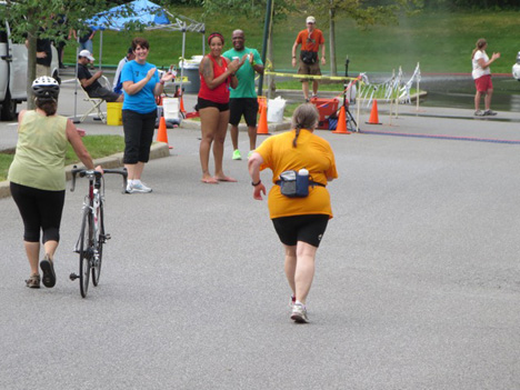 The Wife Streaks To The Finish