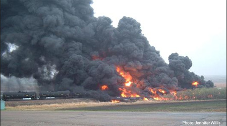 Oil Train Derailment And Fire In North Dakota: Not As Bad As Lac Magantic
